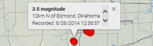 Earthquakes Seismic Activity Wastewater Injection Wells Fracking Oklahoma