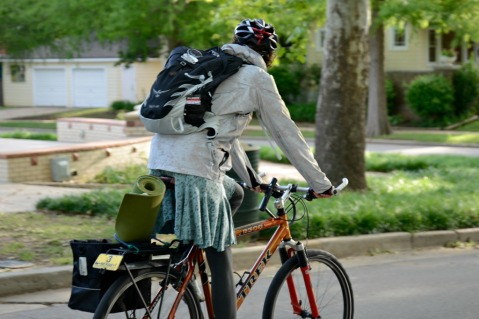 Kate Bike To work West on 18th Mesta Park Oklahoma ACOG