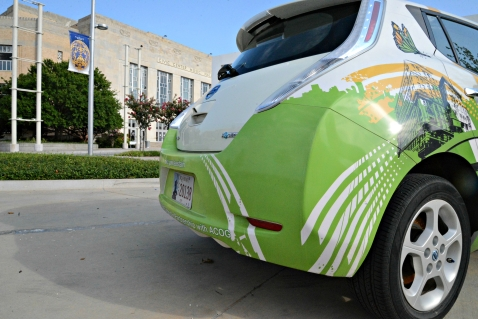 ACOG Clean Citie Car in front of Oklahoma City Civic Center
